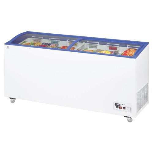 Arcaboa ACL550 Sliding Curved Glass Lid Chest Freezer